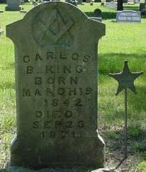 Carlos B King Grave in Greenwood Cemetary