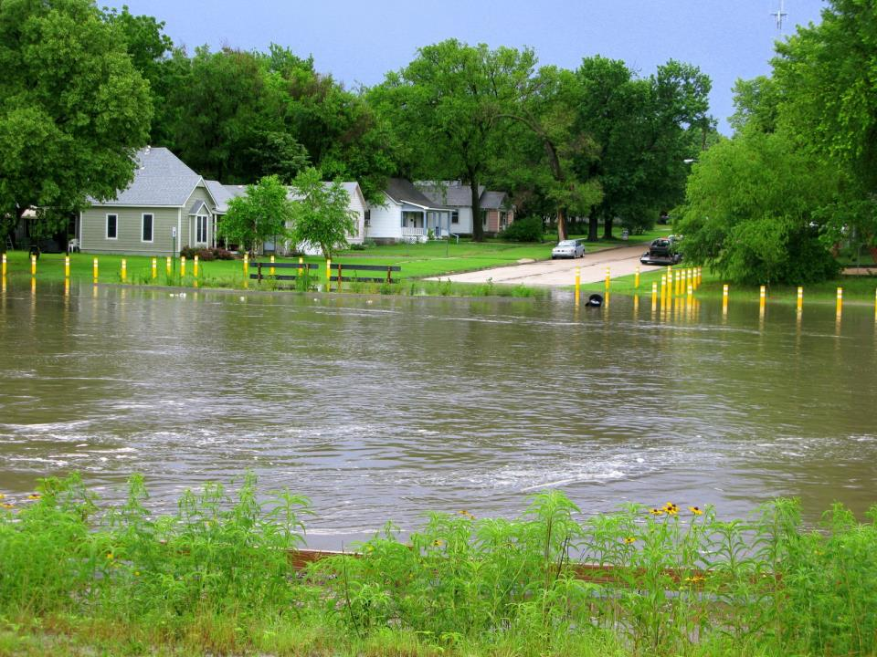 High water on Sand Creek during 2010 flooding