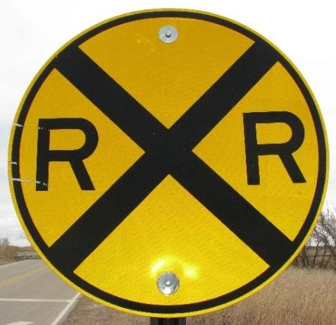 Railroad Advanced Warning Sign