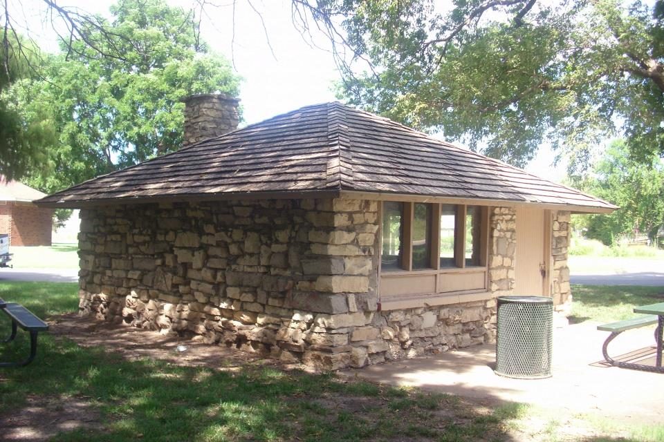 Athletic stone shelter