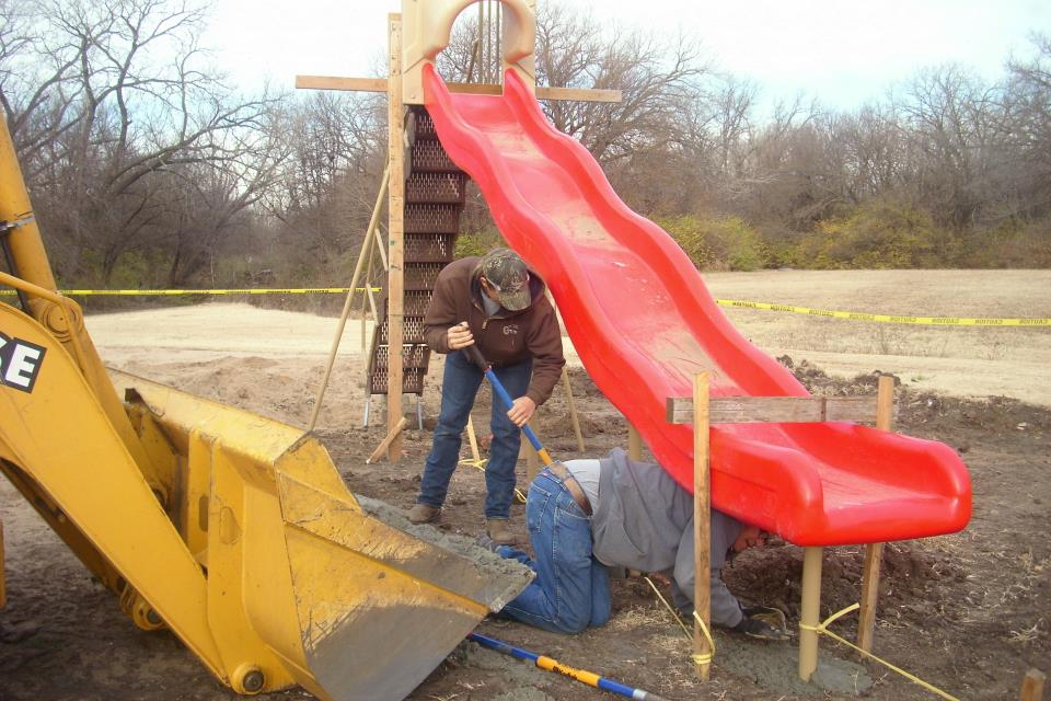 Slide Installation at Plumbrook Park